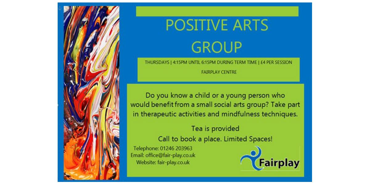 Positive Arts Group <span>Thursdays – 4:15pm Until 6:15pm</span>