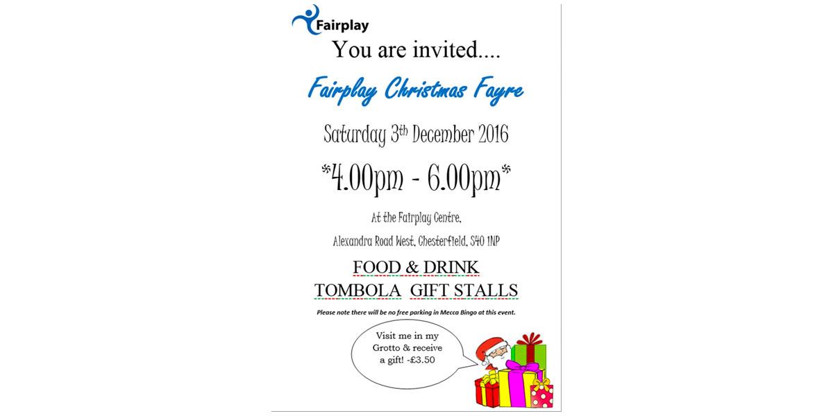 Fairplay's Christmas Fayre 2016