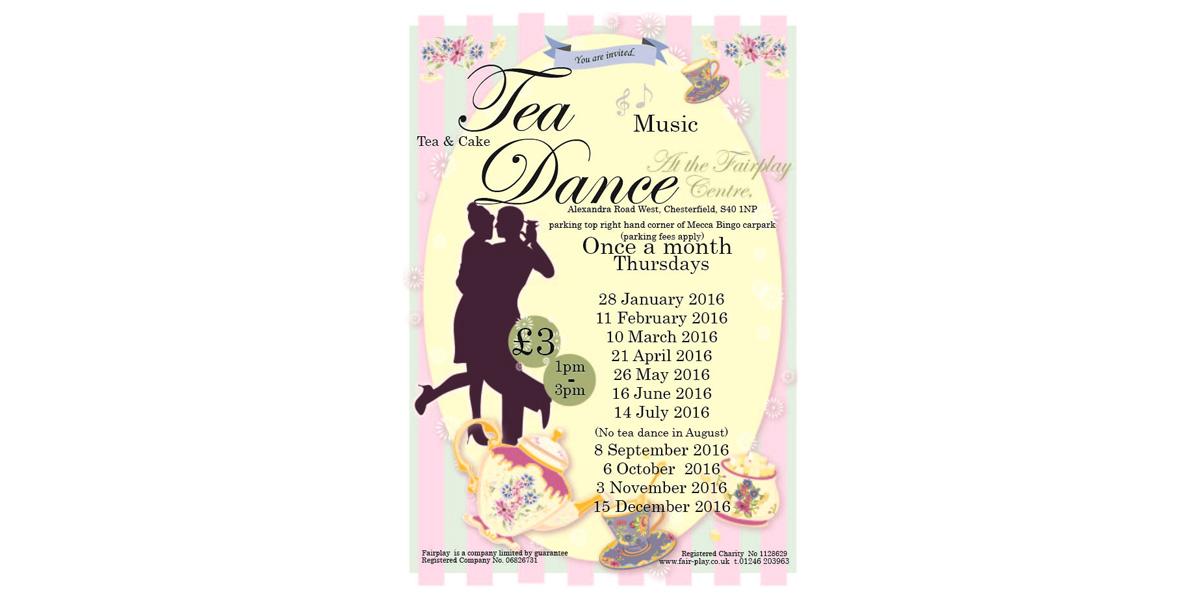 Tea Dance Dates for 2016!