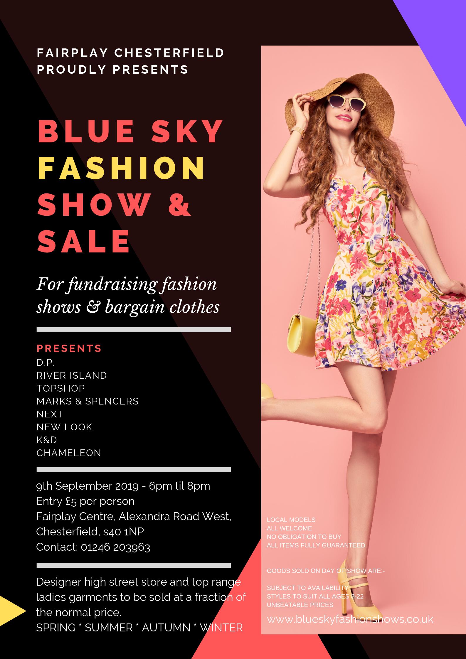 Blue Sky Fashion Show – 9th September 2019