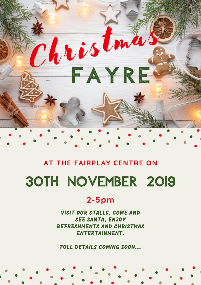 Christmas Fayre – 30th November 2019