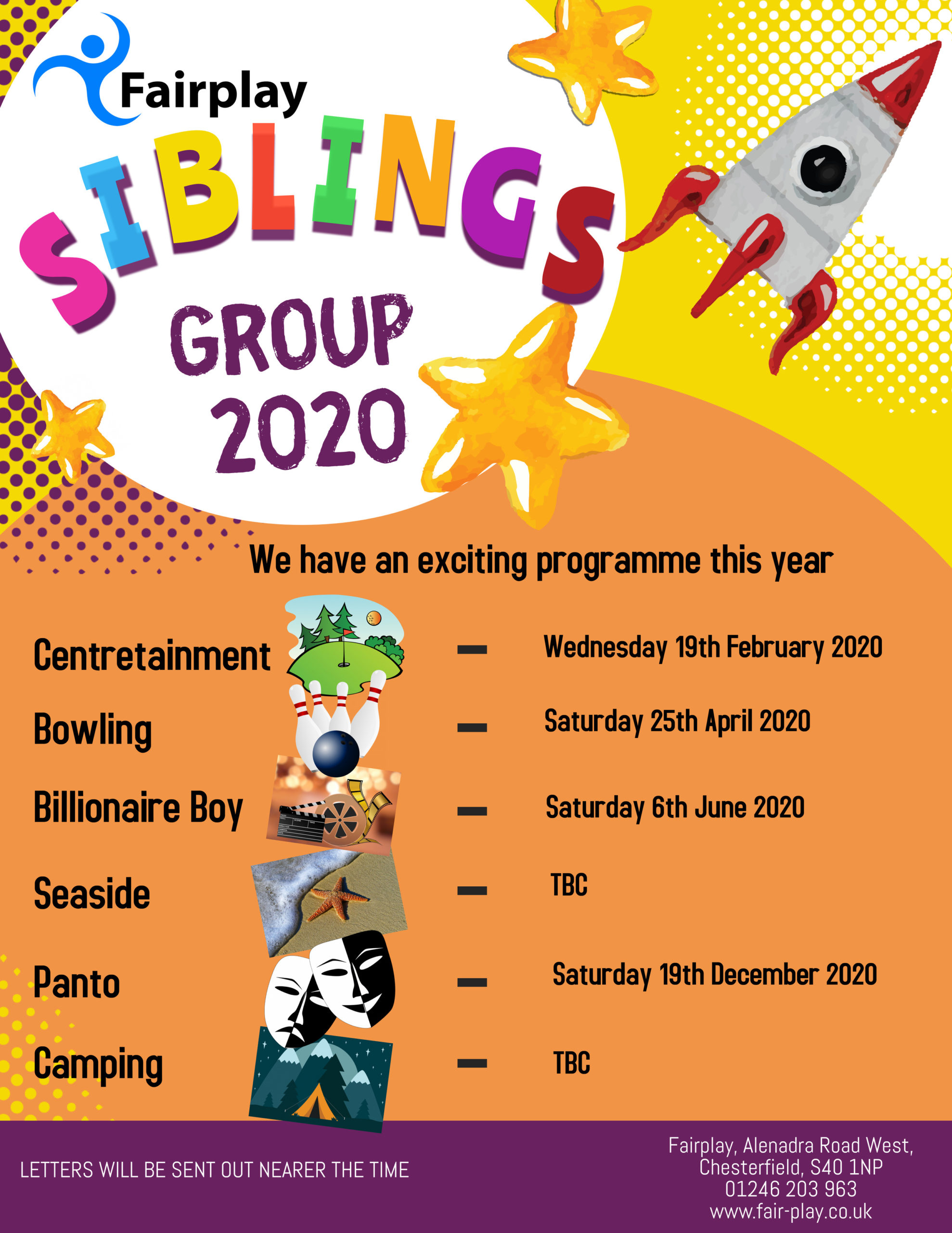 Siblings Group 2020 – various events